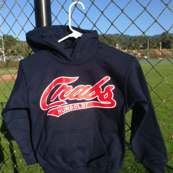 Nave Crabs hoodie with red script