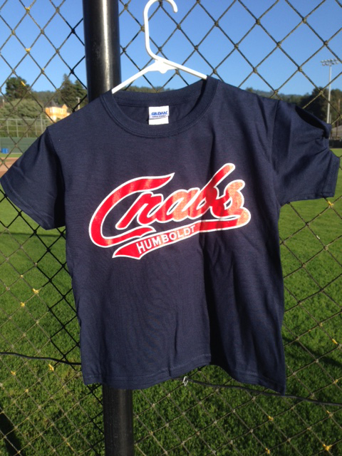 Navy T-Shirt with Red/white Script Logo