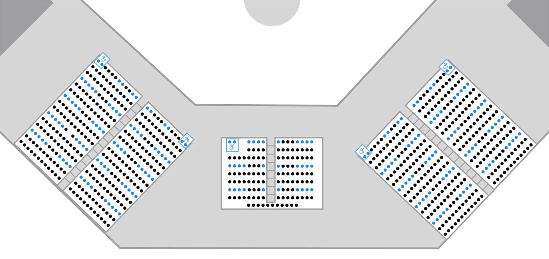 2021 Ballpark seating - bleachers view